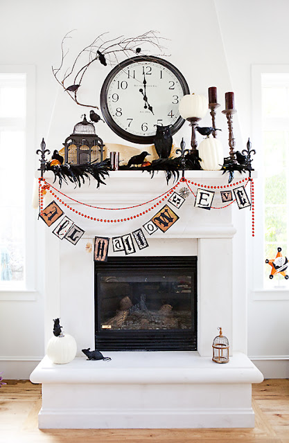 All Hallow's Eve Mantel Decorations | Charmed, I'm Sure