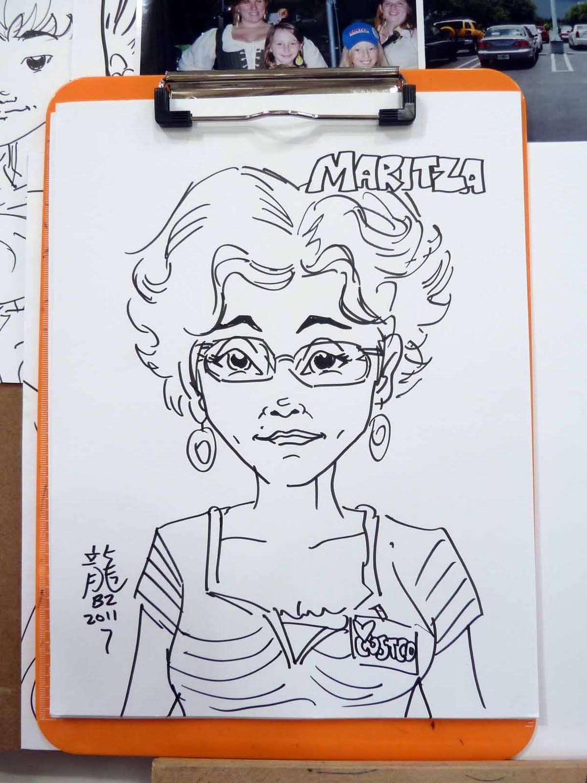 Kid Sketches: More Cartoon Portraits drawn at Costco for the ...