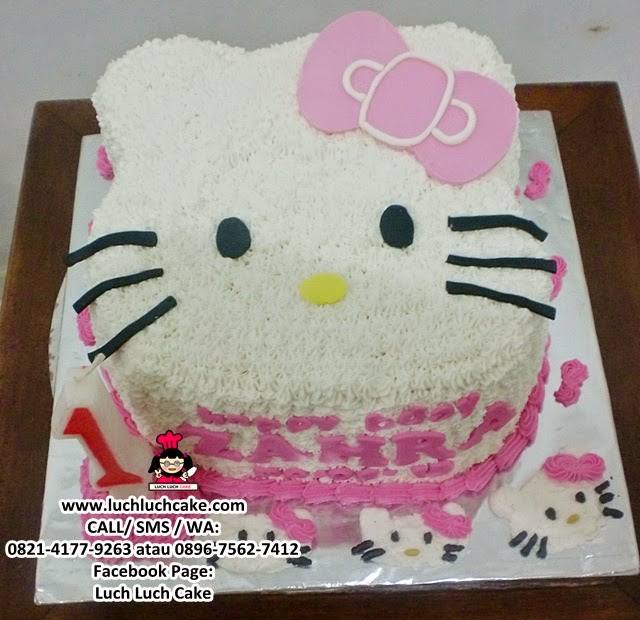 3d Buttercream Cake Hello Kitty Head