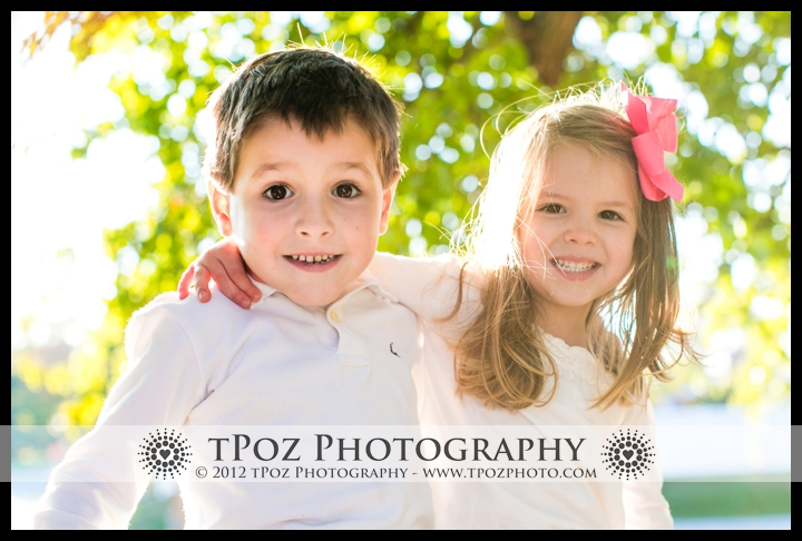 Family Portrait Towson kids in tree