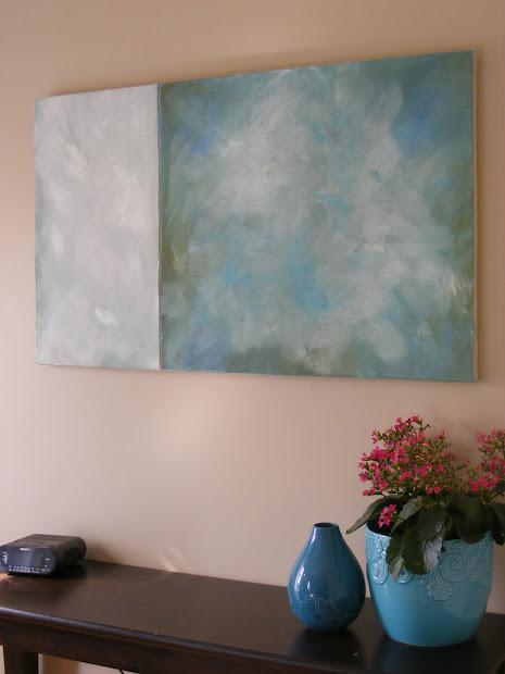DIY Abstract Canvas Wall Art