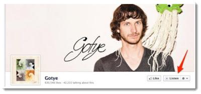 Escucha canciones desde la página de Facebook de tus artistas favoritos