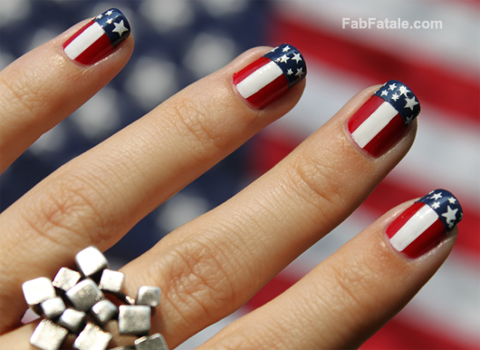 Fashion Mania American Flag Nail Polish
