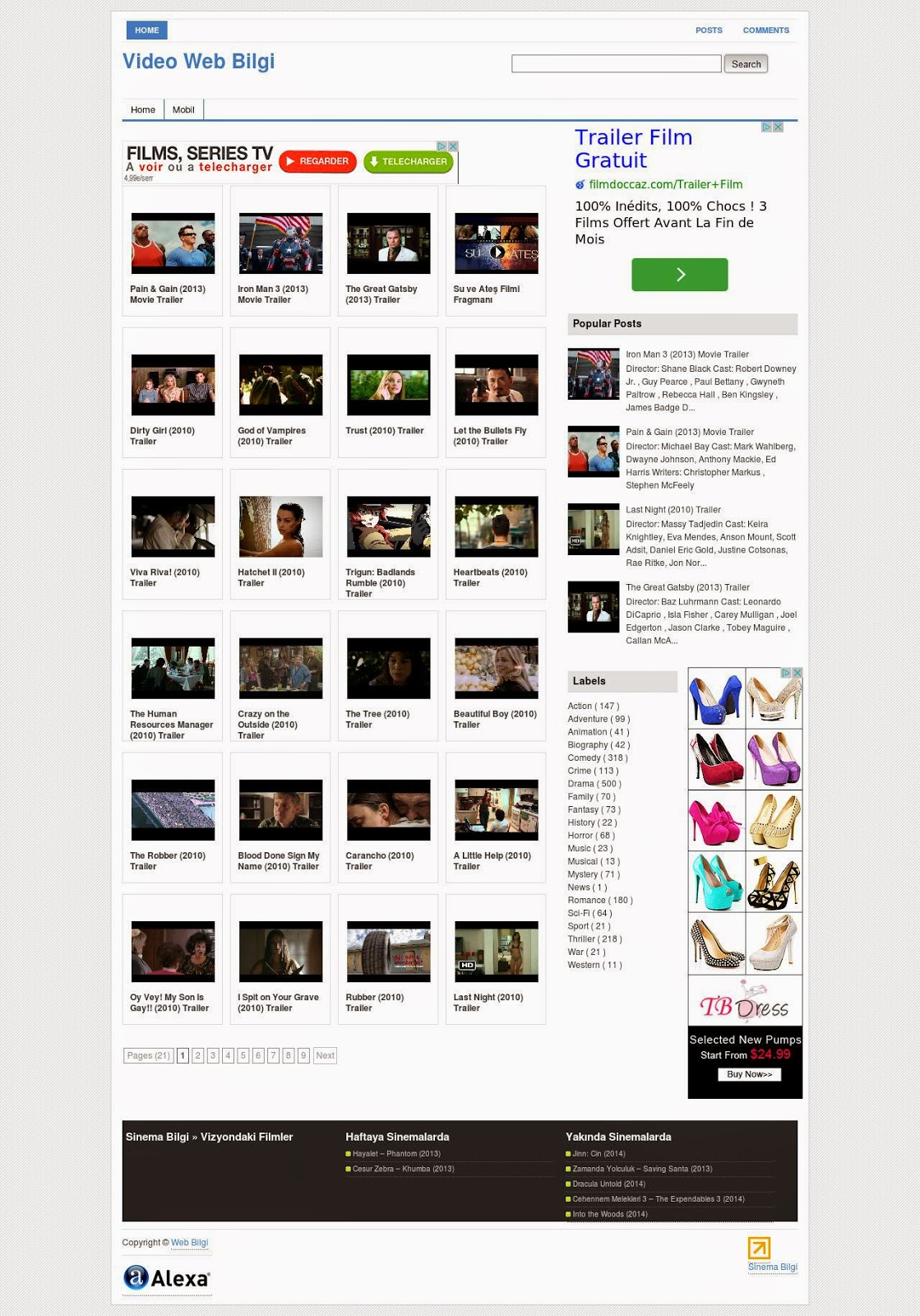 blogger auto video template