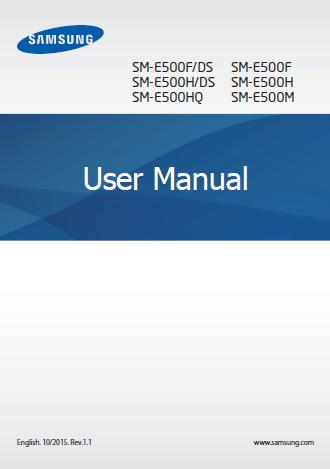 Samsung Galaxy E5 Manual Cover