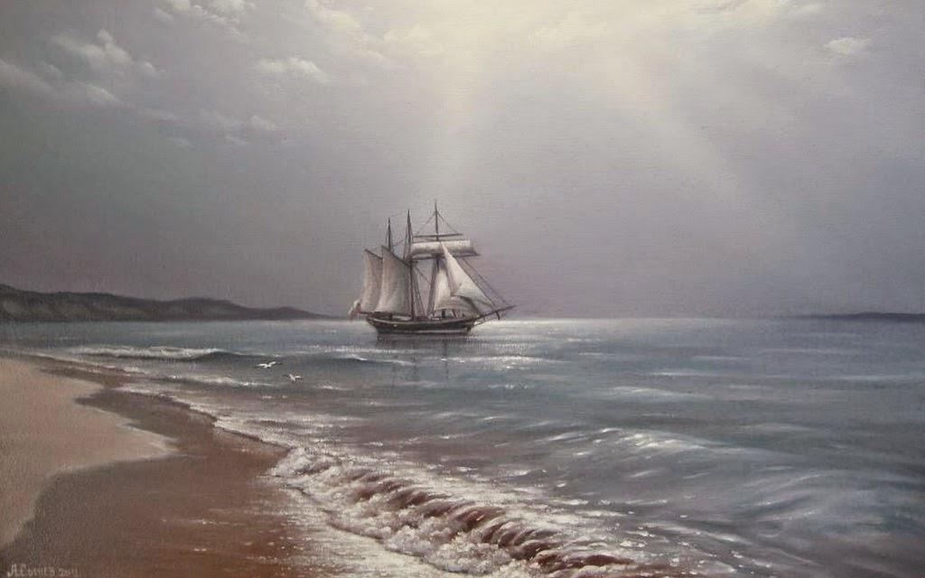 marinas-con-barcos-oleos
