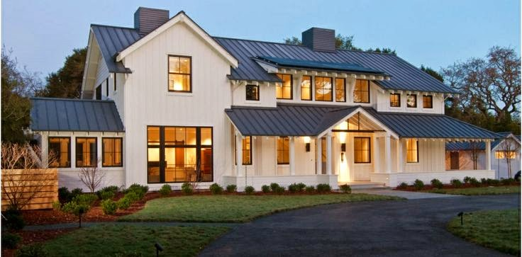 Steward of design crushing on modern farmhouse exteriors for House plans farmhouse modern