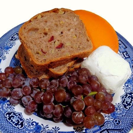 ... Bite: Apple, Cranberry and Walnut Bread + Mimolette (Cantalope Cheese