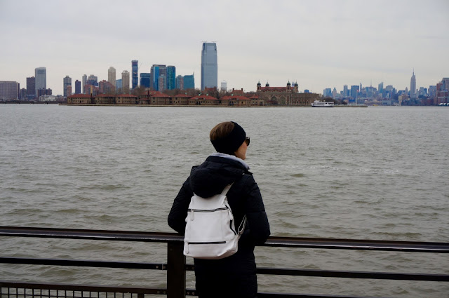 NYC Getaway, Ellis Island, Liberty Island, skyline - greysuede.com