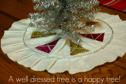 how would you decorate your mini tree skirt wed love to know tell us in the comments but dont stop there come join the crafty conversation on the - Mini Christmas Tree Skirt
