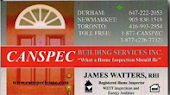 Peterborough Canspec James Watters Home Inspection Services Peterborough, Newmarket, Vaughan