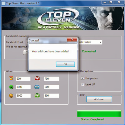 download top eleven hack tool v2 0 2013 2 open top eleven hack tool v2