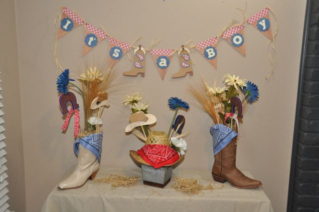 amanda sarver cowboy theme baby shower for a boy blog scrapbooking