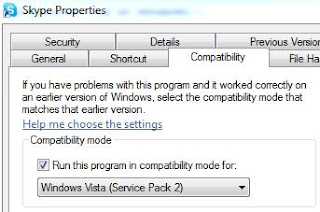 Run Skype in Vista Compatibility Mode to Minimize to System Tray in Win7