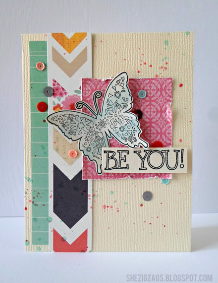 Unity Stamp Co Be You Card