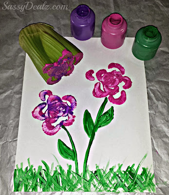 stamping celery kids craft