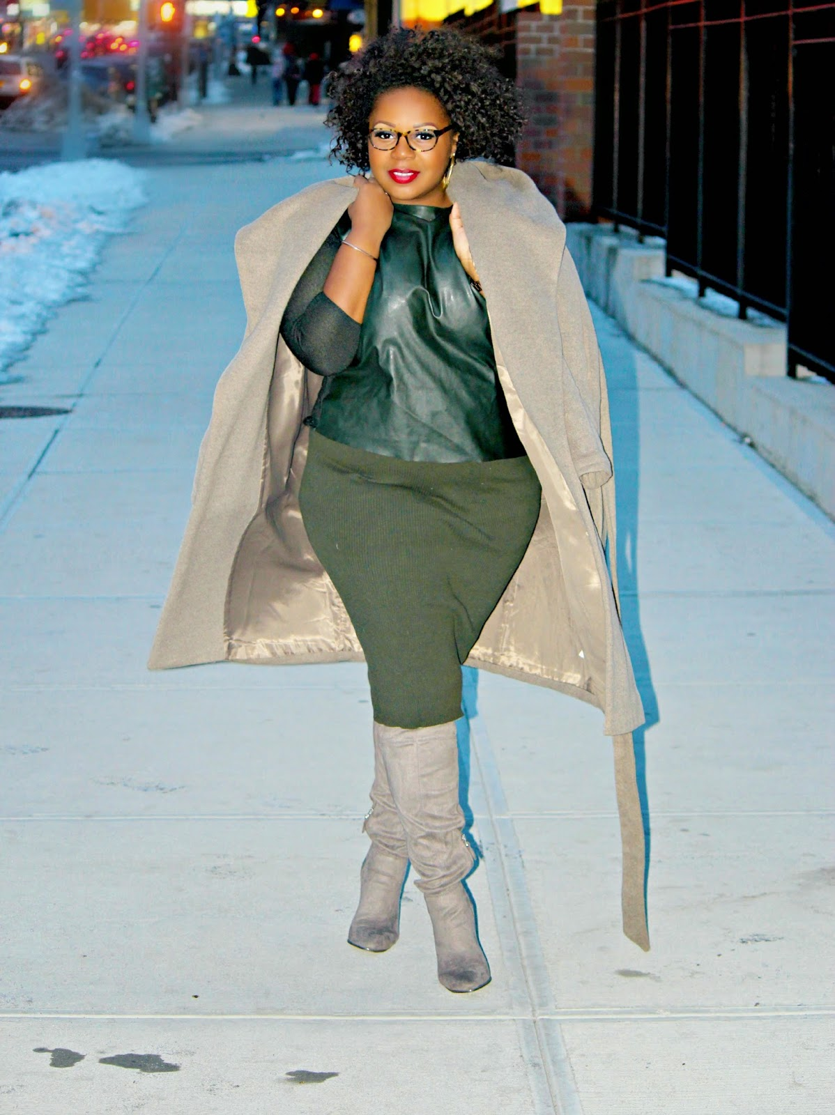 plus size office style, zara oversized robe wrap coat