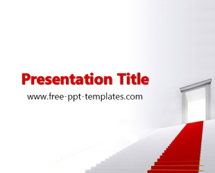 Red Carpet Ppt Template Free Powerpoint Templates