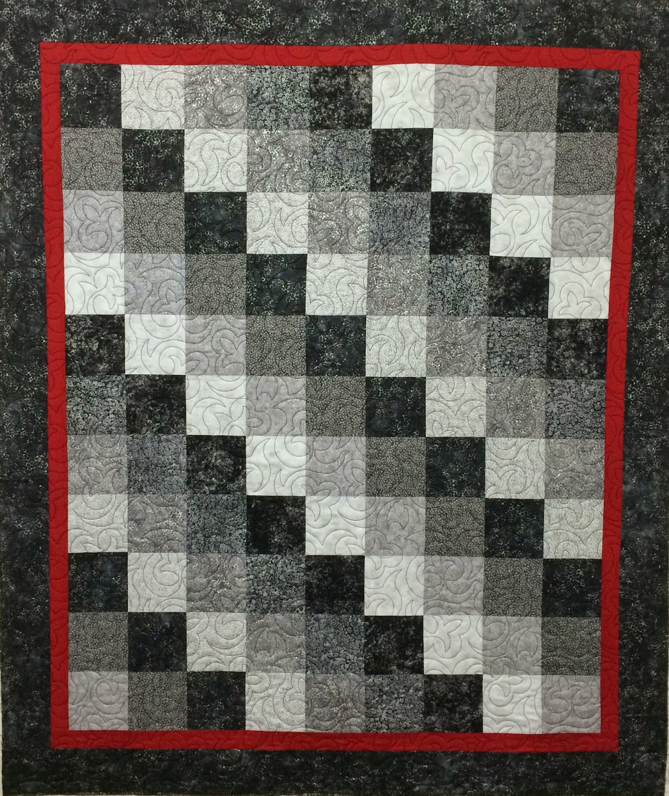Sally Krebs Black & Red Quilt