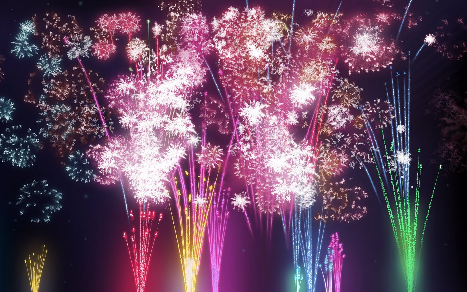 fireworks wallpaper widescreen see to world