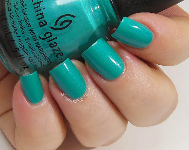 China Glaze Turned Up Turquoise swatch