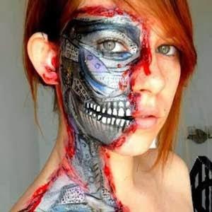 body paint para halloween robot roto