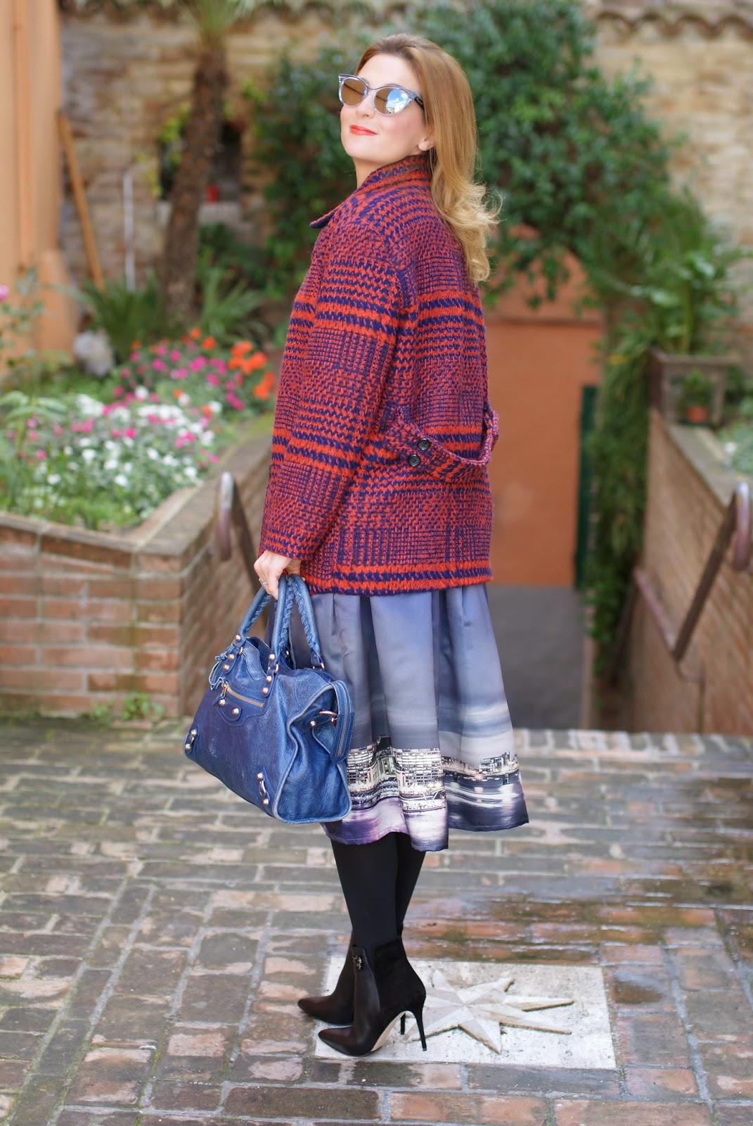 My ticket to london chicwish skyline print skirt