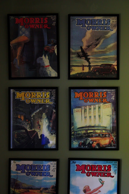 framed vintage copies of morris owner magazine
