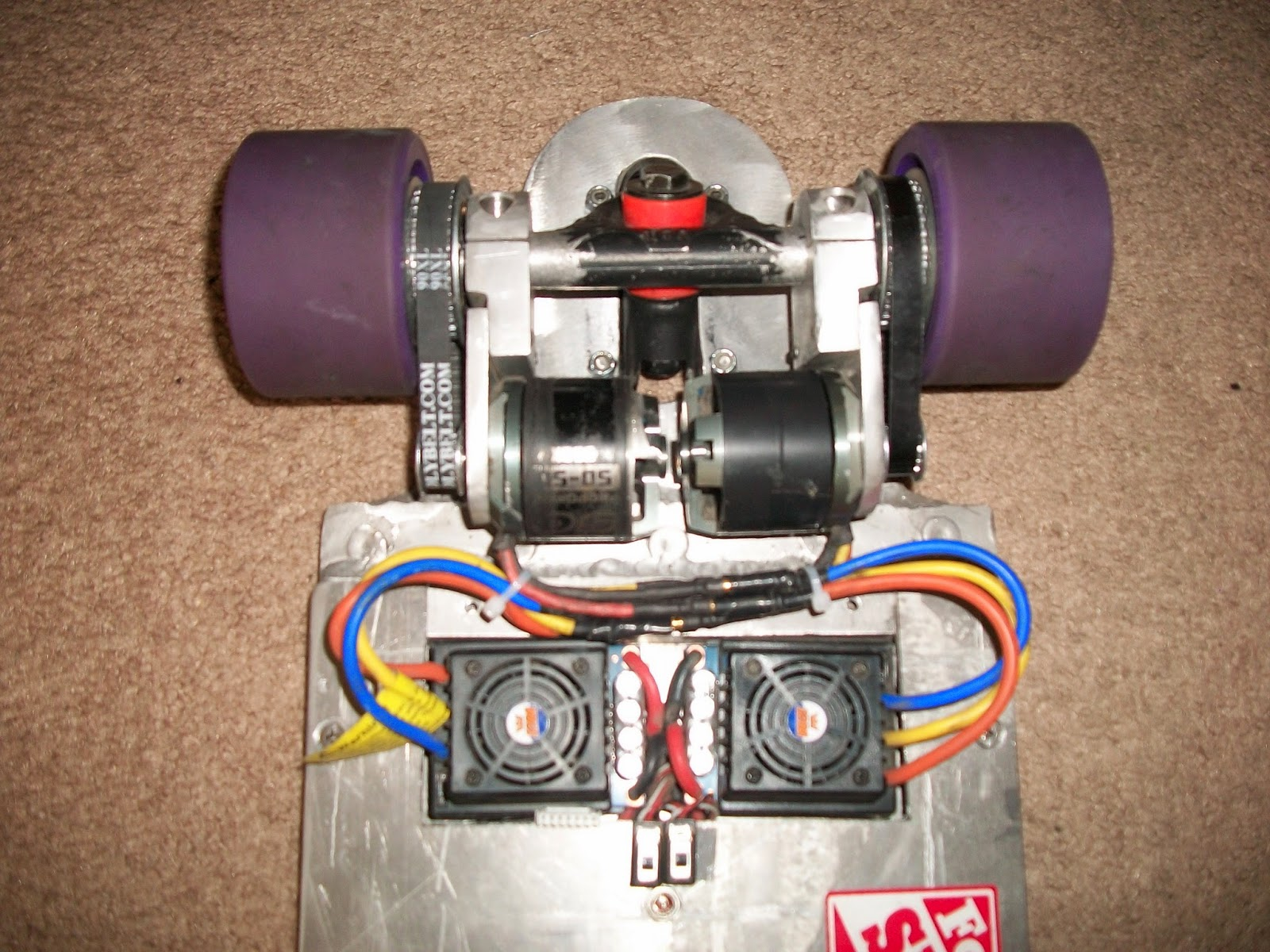 Electric Longboard Project Installed Motor Controllers