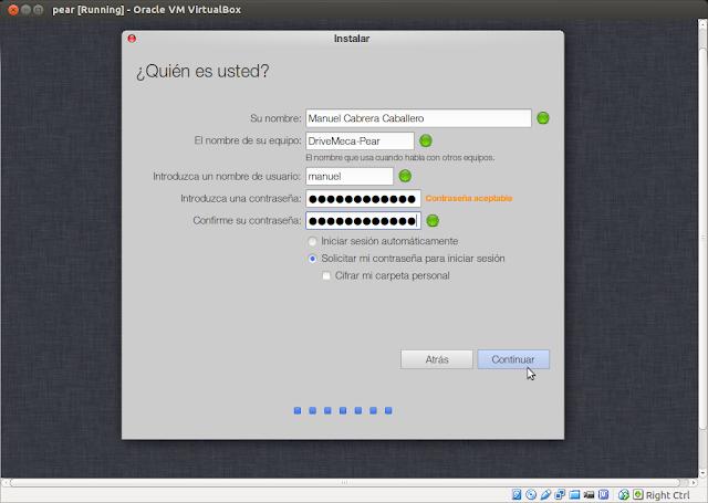 DriveMeca instalando Pear OS 8