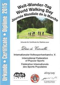 Diploma Dia Mundial da caminhada 2015