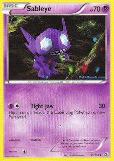 Sableye Legendary Treasures Pokemon Card