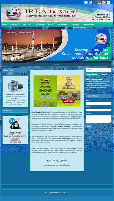 Jasa pembuatan website travel murah, jasa buat web murah, jasa pembuatan website