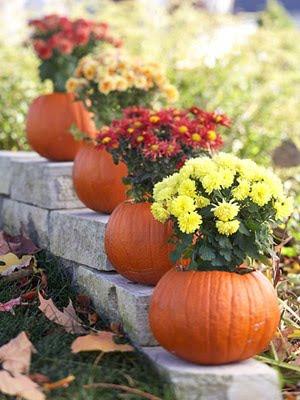 pumpkin vases diy