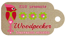 Woodpecker Fabric and Ribbons