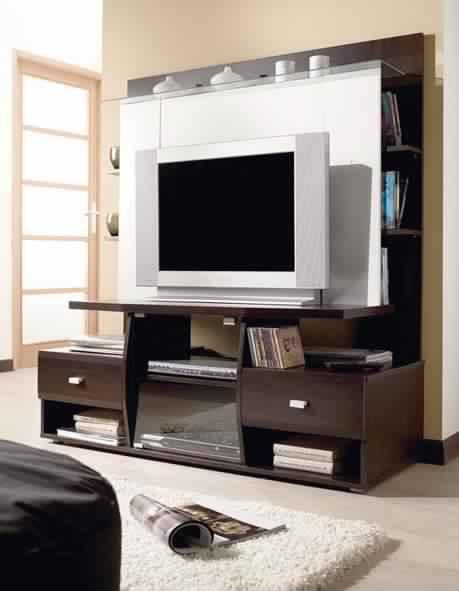 Meuble Tv Blanc Et Noir Laque Conforama