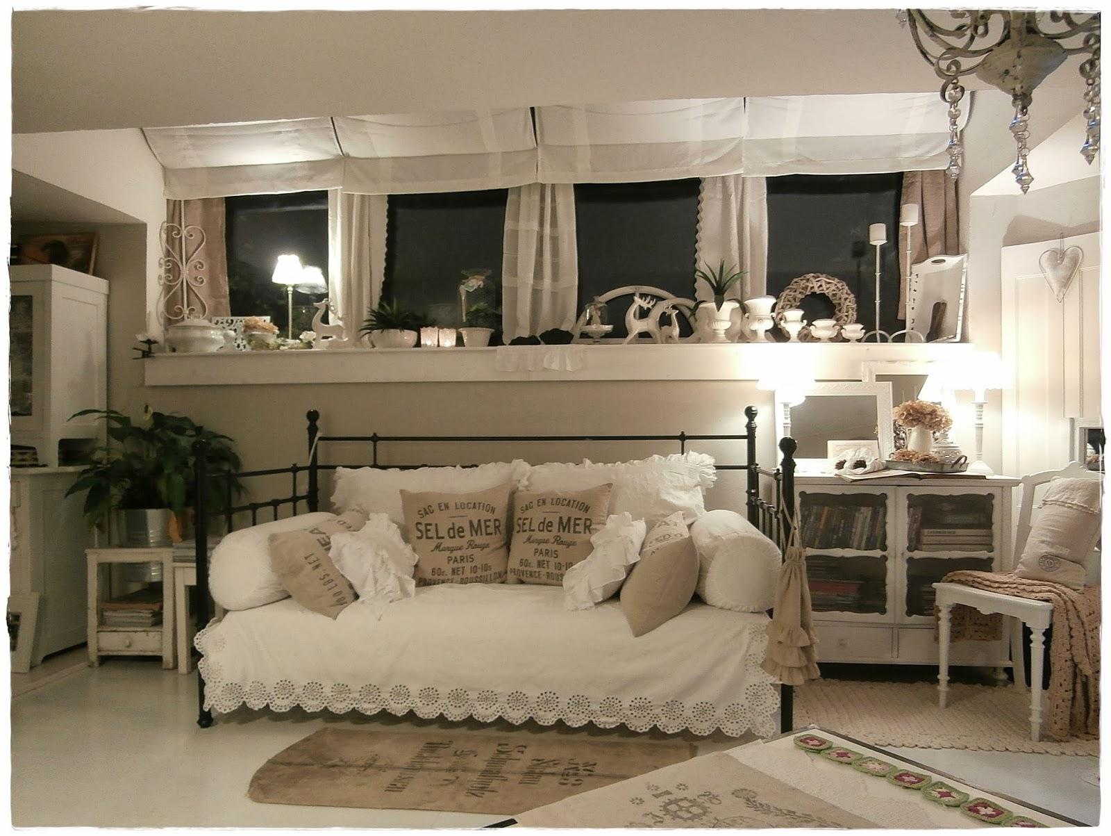 Shabby Landhaus: Vorher-Nachher....Wohnzimmer.....