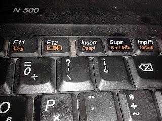 captura pantalla desdes el teclado