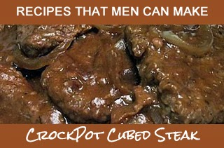 Need a good recipe for cubed steak? Try this crockpot recipe.