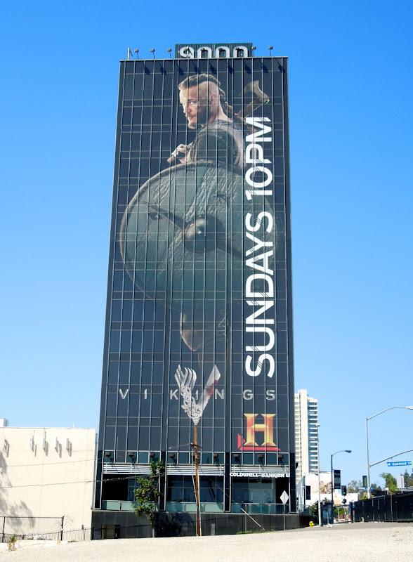 Giant Travis Fimmel Vikings billboard