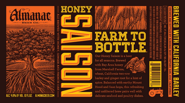 Almanac Beer Company Honey Saison Label Design