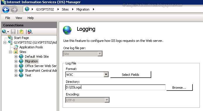 sharepoint 2010 iis logs location