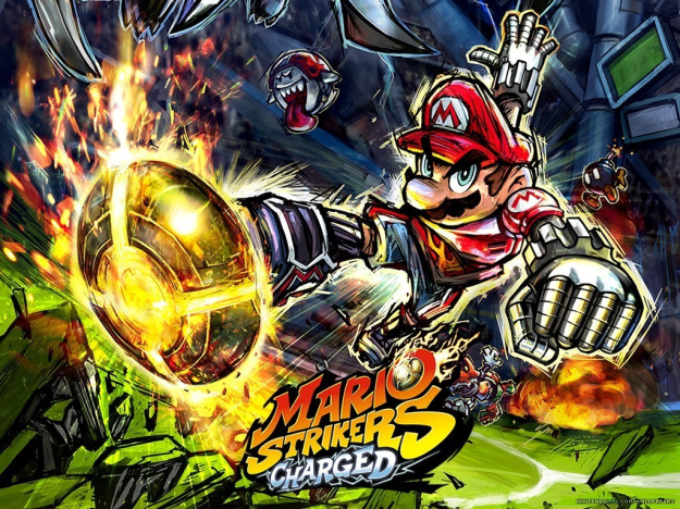 super mario strikers charged art