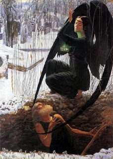 angel of the death portrayed as a expressionless woman
