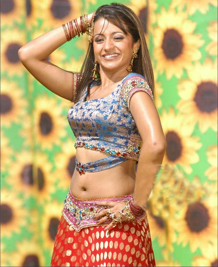Tamil Movie Spicy Heroine Trisha Hot Sizzling Sexy Navel Images