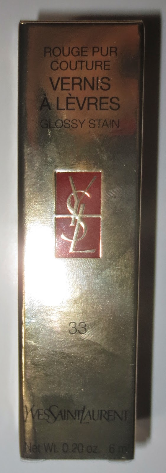 YSL Rouge Pur Couture Glossy Stain #33 Bourgogne Artistique Packaging