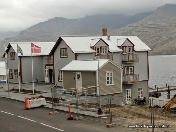 exterior of L'Abri restaurant in Faskrudsfjordur, Iceland