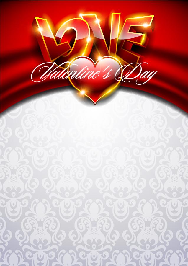 バレンタインデーを彩る背景 fancy valentine background イラスト素材