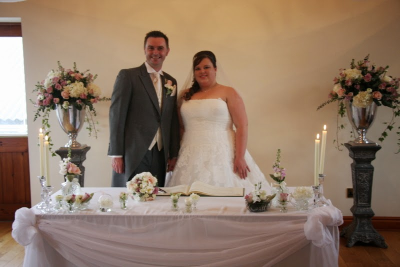 The beautifully elegant dusky pink blue wedding day of for Table 8 beeston