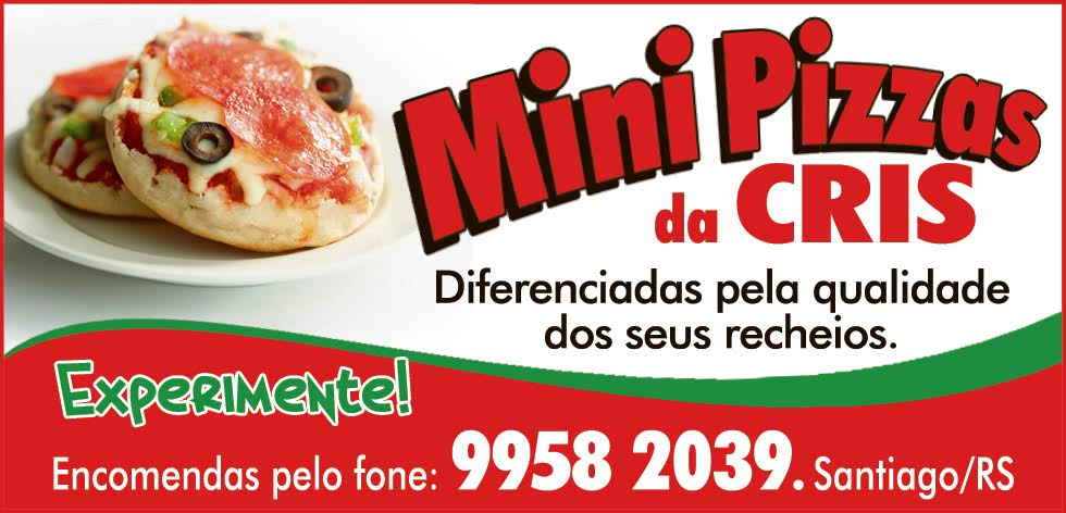 Minipizzas da Cris- Fone 9958-2039